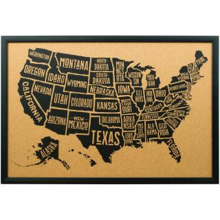 Wayfarer Typographic, United States Push Pin Map
