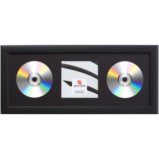 Contemporary, Gallery Black Double CD Display Frame