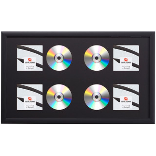 Contemporary, Gallery Black Four CD Display Frame
