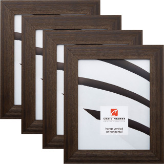 """Driftwood 15 1.5"""", Weathered Black Picture Frames - 4 Piece Set"""