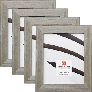"""Barnwood Chic 1.5"""", Shabby Gray Picture Frames - 4 Piece Set"""