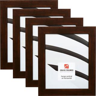 """Bauhaus 125 1.25"""", Modena Vintage Copper Picture Frames - 4 Piece Set"""