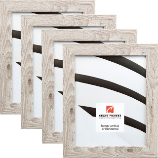 "Bauhaus 125 1.25"", Restoration White Picture Frames - 4 Piece Set"