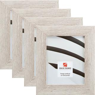 "Bauhaus 200 2"", Restoration White Picture Frames - 4 Piece Set"