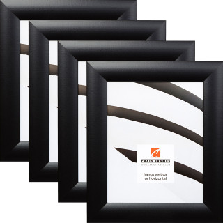 """Contemporary Wide 1.625"""", Gallery Black Picture Frames - 4 Piece Set"""