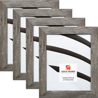 """Bauhaus 125 1.25"""", Barnwood Gray Picture Frame - 4 Piece Set"""