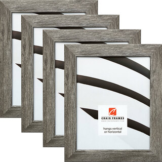 "Bauhaus 125 1.25"", Barnwood Gray Picture Frames - 4 Piece Set"