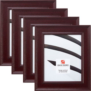 "Revival 2"", Mahogany Picture Frame - 4 Piece Set"