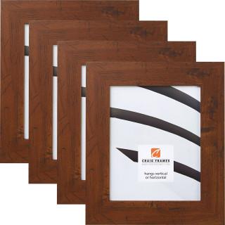 """Bauhaus 200 2"""", Dark Walnut Picture Frames - 4 Piece Set"""