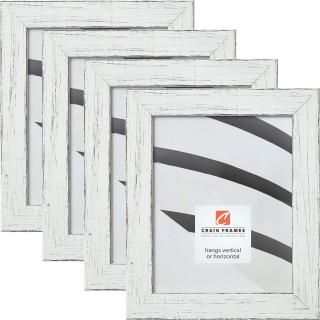 "Jasper 1.5"", Marshmallow Weathered Picture Frames - 4 Piece Set"