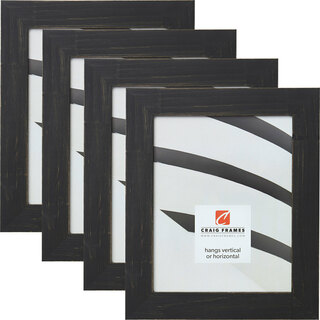 """Jasper 1.5"""", Charcoal Weathered Picture Frames - 4 Piece Set"""