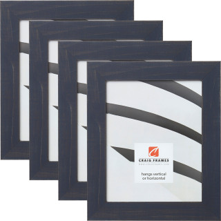 "Jasper 1.5"", Weathered Blue Picture Frames - 4 Piece Set"