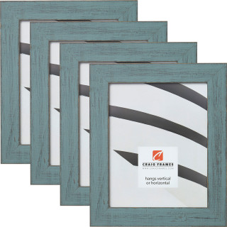 "Jasper 1.5"", Dixie Gray Weathered Picture Frames - 4 Piece Set"