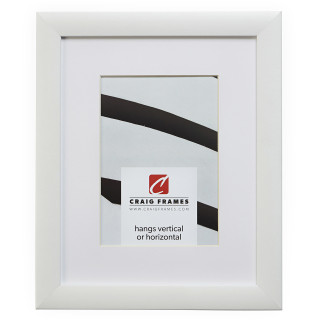 "Contemporary 1"", Matted White Satin Picture Frame"