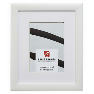 """Contemporary 1"""", Matted White Satin Picture Frame"""