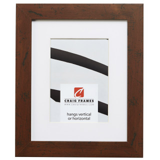 "Bauhaus 125 1.25"", Matted Dark Walnut Picture Frame"
