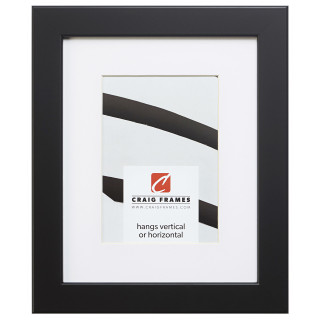 "Bauhaus 125 1.25"", Matted Black Satin Mica Picture Frame"