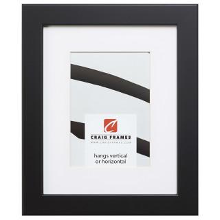 """Bauhaus 125 1.25"""", Matted Black Satin Mica Picture Frame"""