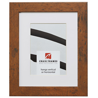 "Bauhaus 125 1.25"", Matted Light Walnut Picture Frame"
