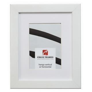 """Bauhaus 125 1.25"""", Matted White Satin Mica Picture Frame"""