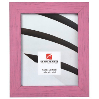 """Jasper 1.5"""", Petticoat Pink Weathered Picture Frame"""