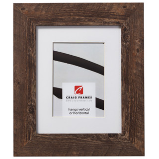 """American Barn 2"""", Matted Brown Oak Picture Frame"""