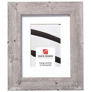 """American Barn 2"""", Matted Light Grey Picture Frame"""