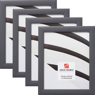 "Contemporary 1"", Dark Grey Picture Frames - 4 Piece Set"