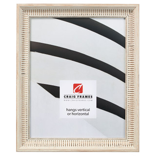 """Luella 1"""", Ornate Whitewash Picture Frame"""