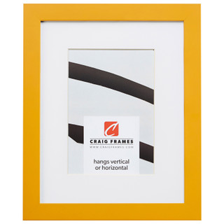 """Confetti .875"""", Matted Yellow Picture Frame"""