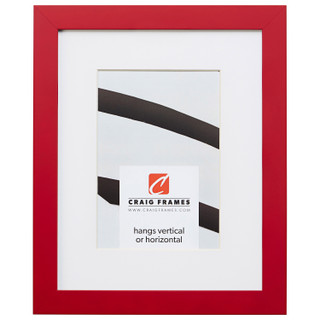 "Confetti .875"", Matted Red Picture Frame"