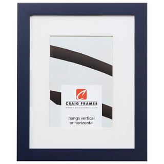 """Confetti .875"""", Matted Navy Blue Picture Frame"""