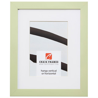 """Confetti .875"""", Matted Light Green Picture Frame"""