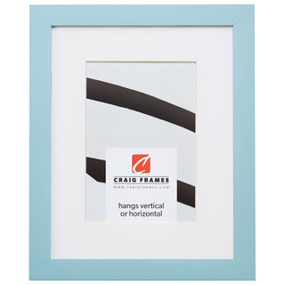 "Confetti .875"", Matted Light Blue Picture Frame"