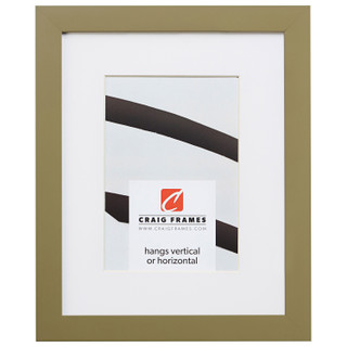 """Confetti .875"""", Matted Olive Green Picture Frame"""