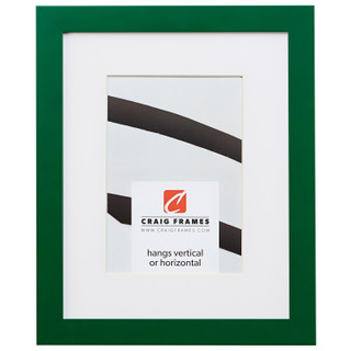 "Confetti .875"", Matted Green Picture Frame"