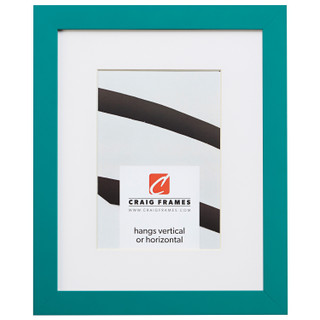 """Confetti .875"""", Matted Teal Blue Picture Frame"""