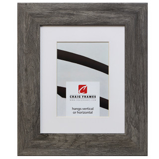 "Bauhaus 200 2"", Matted Barnwood Gray Picture Frame"