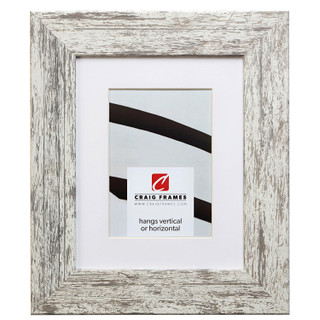 "American Barn 2"", Matted Alabaster White Picture Frame"