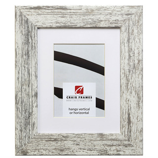 """American Barn 2"""", Matted Alabaster White Picture Frame"""