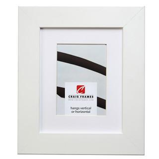 """Bauhaus 200 2"""", Matted White Satin Mica Picture Frame"""