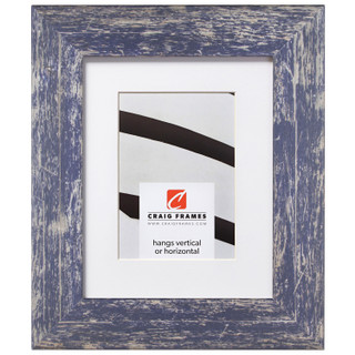 "American Barn 2"", Matted Independence Blue Picture Frame"