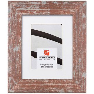 """American Barn 2"""", Matted Red Picture Frame"""