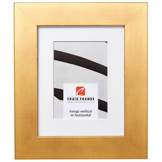 """Bauhaus 200 2"""", Matted Old World Gold Picture Frame"""
