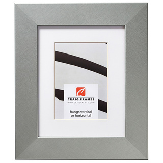 """Bauhaus 200 2"""", Matted Brushed Silver Picture Frame"""