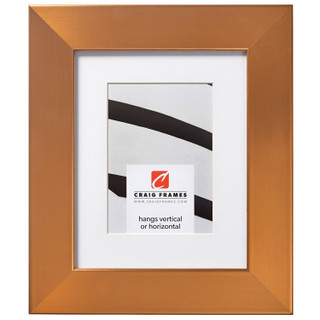 """Bauhaus 200 2"""", Matted Stainless Brass Picture Frame"""