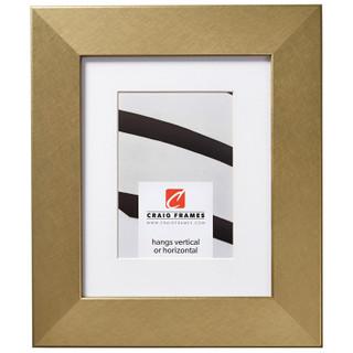 "Bauhaus 200 2"", Matted Brushed Gold Picture Frame"