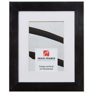 "Bauhaus 125 1.25"", Matted Ebony Walnut Picture Frame"