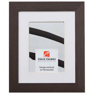 "Bauhaus 125 1.25"", Matted Textured Grey Oak Picture Frame"