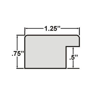 720352027 Bauhaus 0.75 Wide 20x27 Inch Burgundy Walnut Dark Brown Picture Frame Craig Frames
